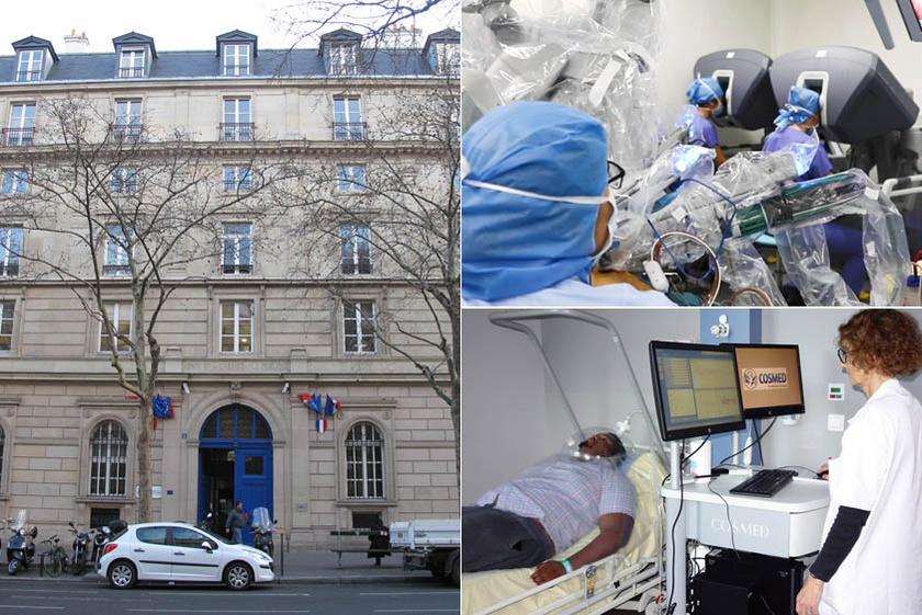 A párizsi Assistance Publique Hôpitaux Európa legnagyobb, legmodernebb technológiájával rendelkező egészségügyi intézménykomplexuma, mely több helyszínen 90 ezer dolgozóval működik. Az egészségügyi ellátás mellett oktatás és klinikai kutatás, több mint 60 futó projekttel, magas színvonalú onkológiai részleggel.
