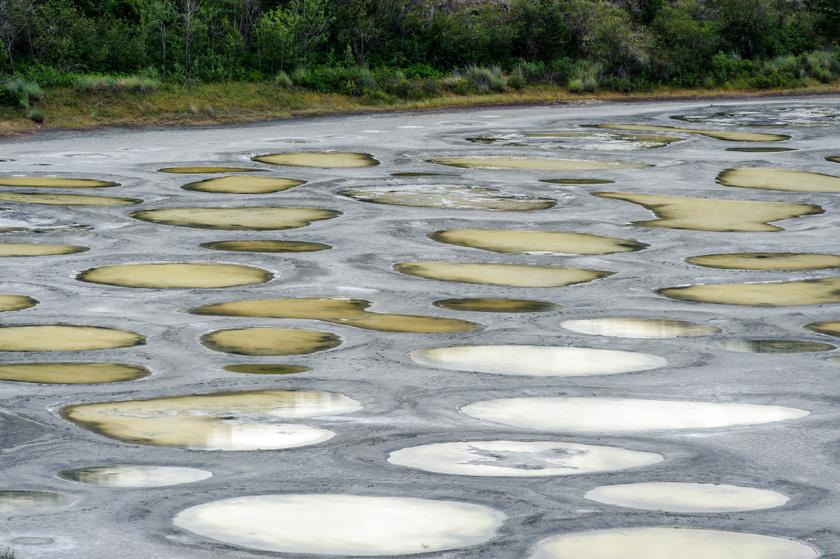 Nyáron az ásványianyag-lerakódások kőkeménnyé változnak, és apró átjárókat képeznek a foltok körül, amitől a kép csak még meseszerűbb lesz.