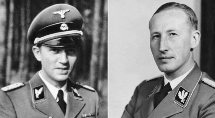 Walter Schellenberg (b) és Reinhard Heydrich