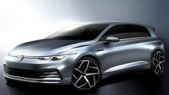 Rajzokon mutatták meg először az új VW Golfot