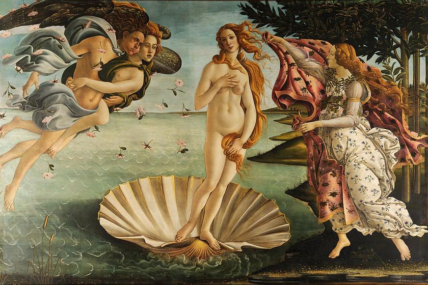 Botticelli: Vénusz születése.