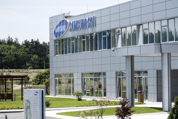 A Samsung SDI gödi elektromos jármű akkumulátor gyárának főépülete