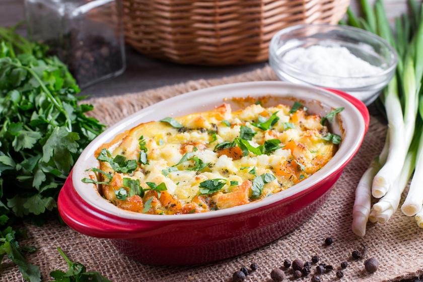 Sütőtökös rakott krumpli: fűszeres darált hússal még laktatóbb