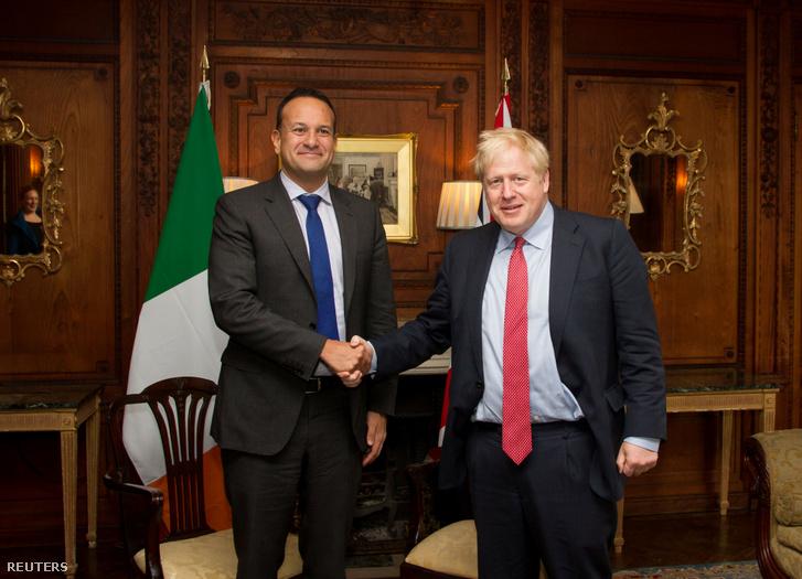 Leo Varadkar és Boris Johnson 2019. október 10-én.