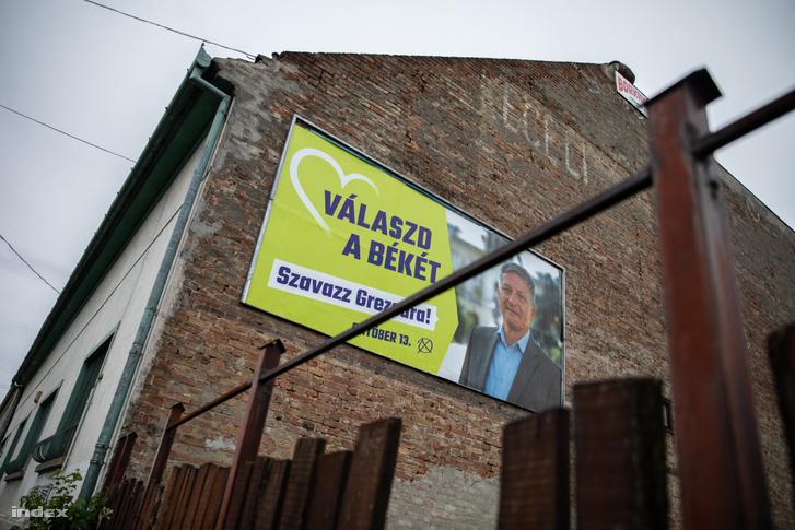 Grezsa István plakátja Hódmezővásárhelyen