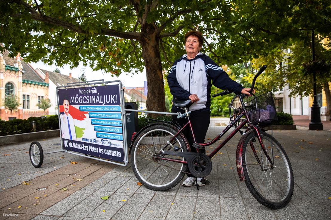 Kocsis Jánosné Márki-Zay Péter kampányának egyik aktivistája