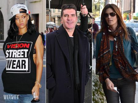 Rihanna, Simon Cowell és Cindy Crawford