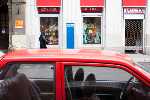 Vigyázat, ehhez a VII. kerületben parkoló kocsihoz a legközelebb eső automata a VI. kerületben van