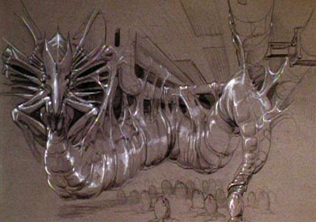 James Cameron eredeti vázlatrajza a félelmetes Alien-királynőről