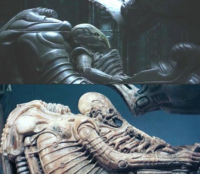 Space Jockey 2012-ben és 1979-ben