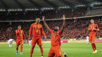 Belgium 9-0-val jutott ki a futball-Eb-re
