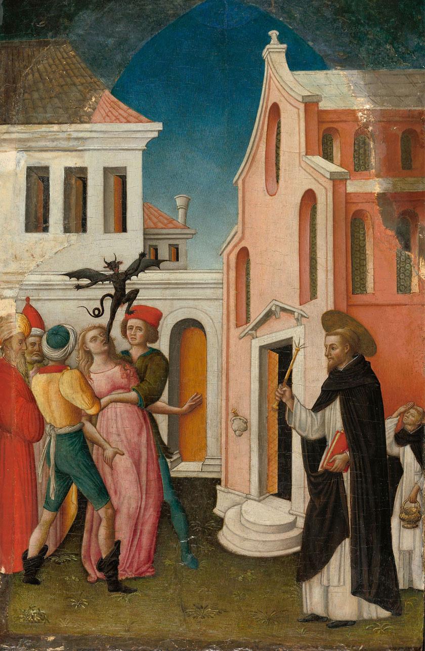 Antonio Vivarini festménye egy ördögűzésről.