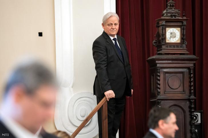 Tarlós István főpolgármester a Fővárosi Közgyűlés ülése előtt a Városháza dísztermében 2019. február 20-án