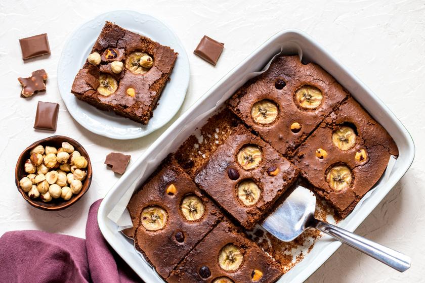 Csupa csokis banános brownie: ennyi ideig süsd a tésztát