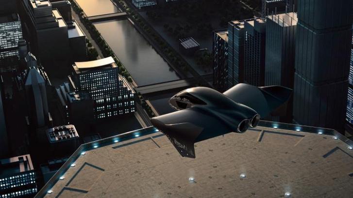 Számítógép által renderelt kép a lehetséges repülő autóról