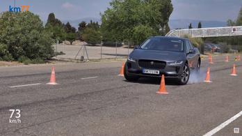 Vért izzadt a Jaguar I-pace a jávorszarvas-teszten