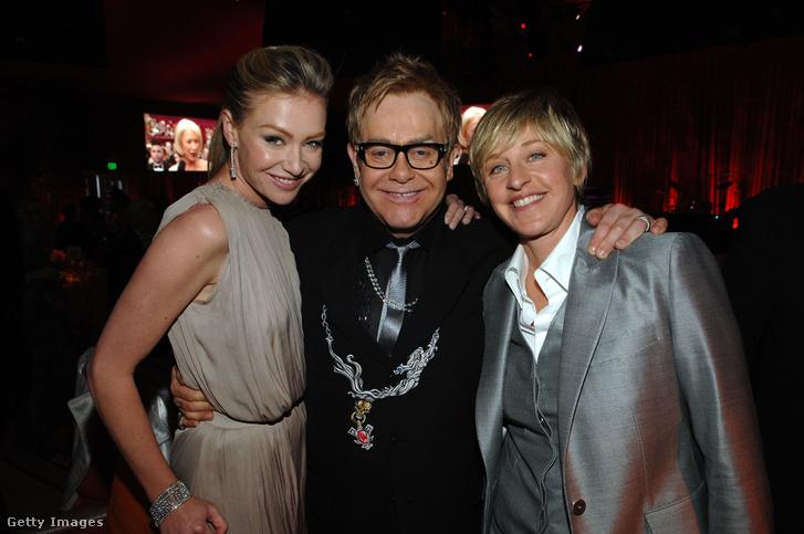 Portia De Rossi (Ellen DeGeneres felesége), Elton John és Ellen DeGeneres