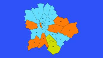 Tíz kerületet vesztett el a Fidesz 2014-hez képest