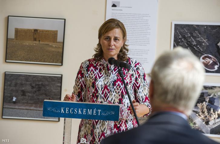 Szemereyné Pataki Klaudia (Fidesz-KDNP) polgármester 2019. szeptember 12-én.