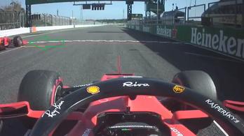 Vettel kiugrott a rajtnál. De mégsem