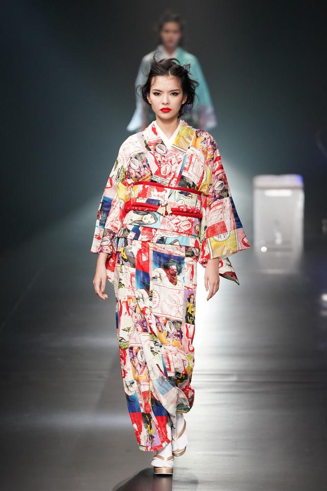A divattervező a legismertebb hagyományos japán viseletet, a kimonót gondolta újra
