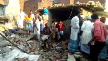 Tíz ember halálát okozta egy gázrobbanás Indiában