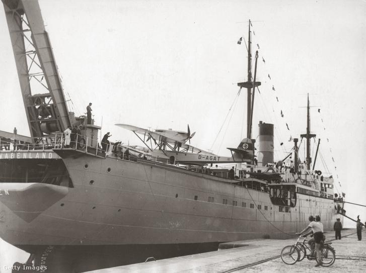 Az MS Schwabenland német tengerjáró katapulthajó, amely a német Neuschwabenland expedíciót Antarktiszra vitte 1938-ban