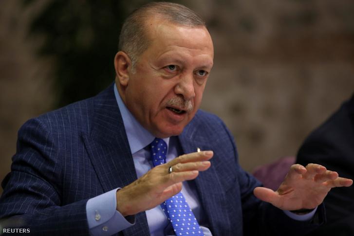 Recep Tayyip Erdoğan 2019. október 13-án.