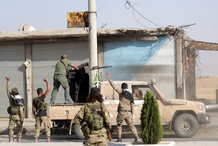 Harcok Szíriában 2019. október 13-án.