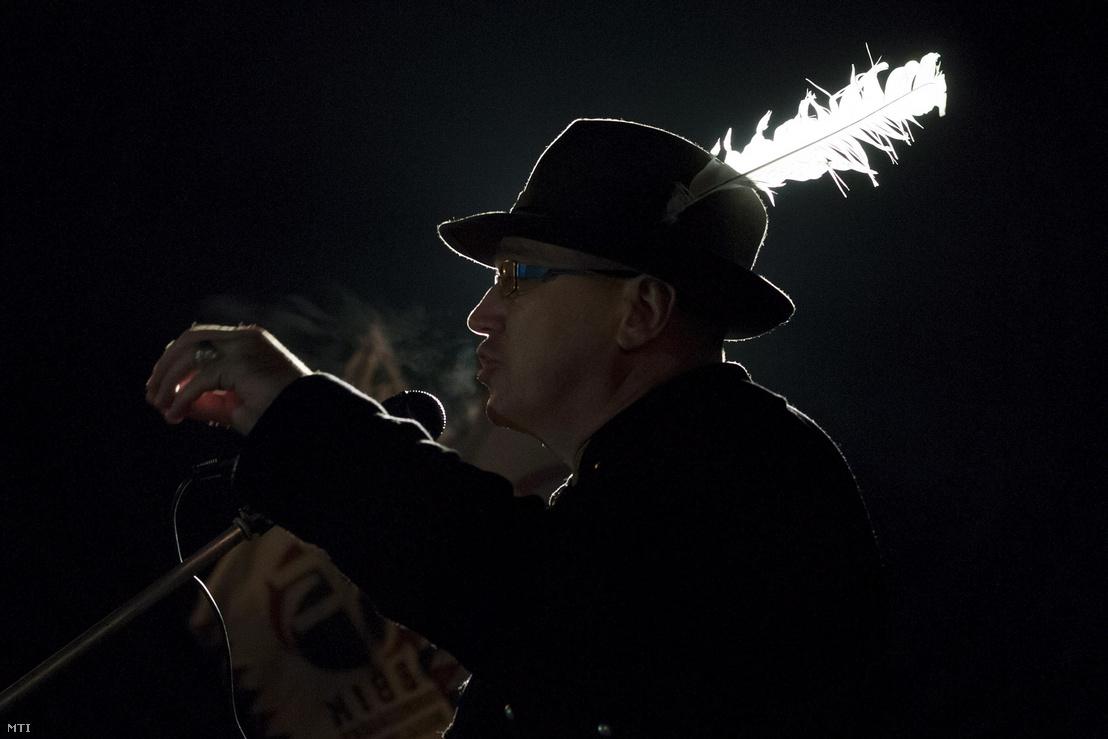 Orosz Mihály Zoltán egy demonstráción 2013-ban.