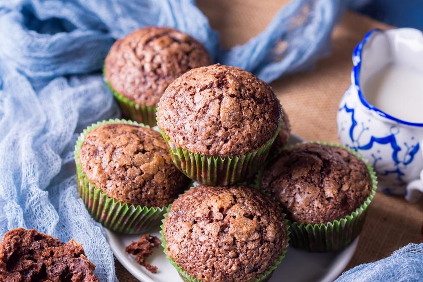 Bögrés gesztenyés, csokis muffin: pihe-puha gluténmentes finomság