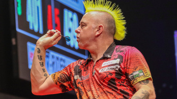 A darts punkja új világrekordot állított fel tévés meccsen
