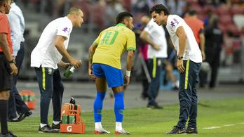 Neymar mindig megsérül a válogatottban, egy hónapot kihagy