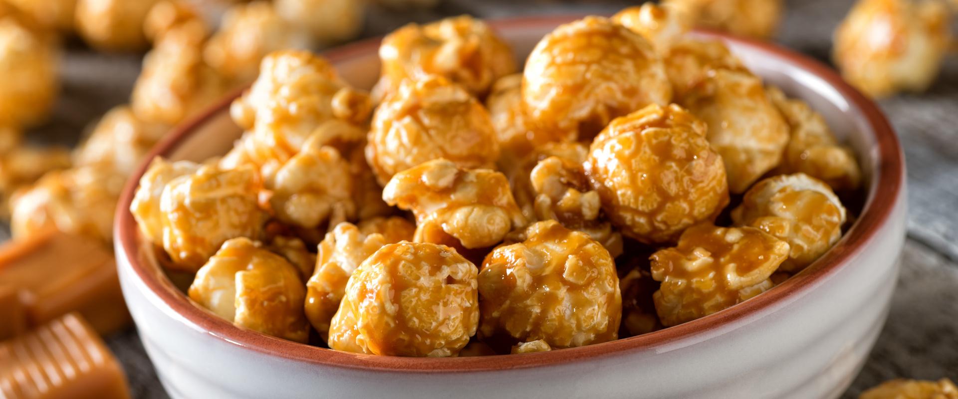 Karamellizált popcorn