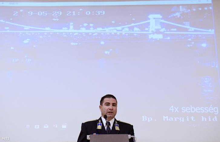 Pál Adrián a budapesti rendőrfőkapitány bűnügyi helyettese a sajtótájékoztatón