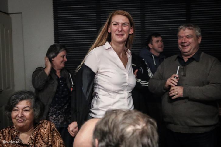 Baranyi Krisztina a 2019-es önkormányzati választások eredményváró eseményén