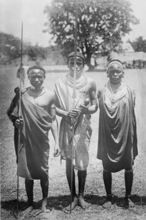 Kenyai nandi törzs tagjai (1880 és 1923 között)