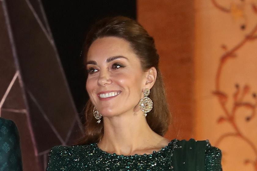 Katalin hercegné csillogó estélyiben tündökölt Iszlámábádban - Smaragdzöld ruhát viselt