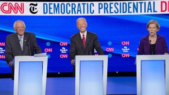 Új demokrata esélyest támadtak a többiek a tévévitán