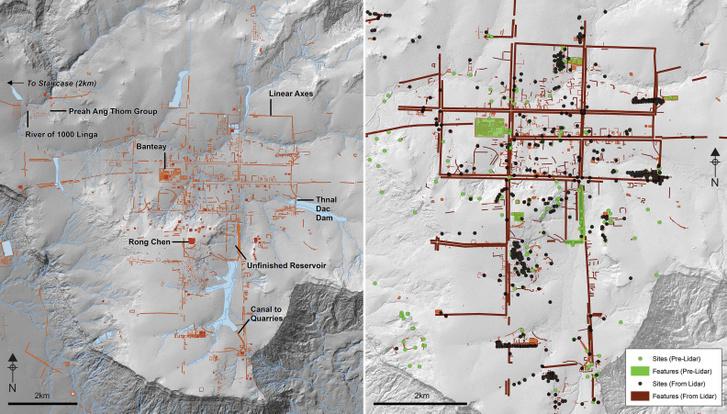 Mahendraparvata rekonstruált településszerkezete