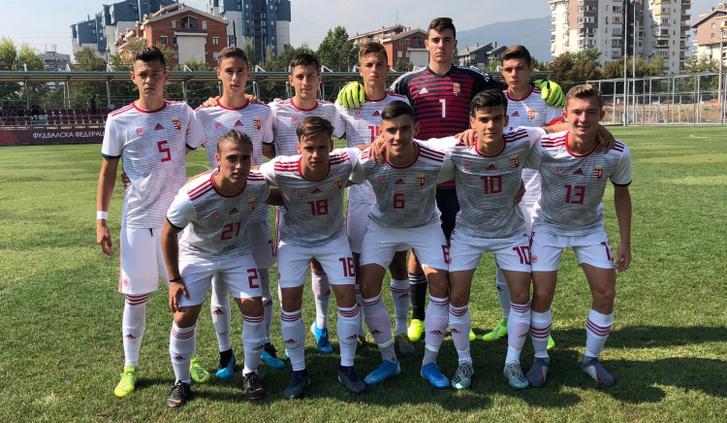 A szeptember 5-én az északmacedónok ellen kezdő U17-es válogatott