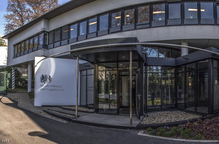 A budapesti brit nagykövetség épülete a II. kerületi Füge utcában