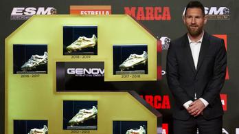 Messi sorozatban harmadjára vette át az Aranycipőt