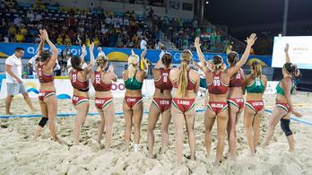 Ezüstéremmel zárt a strandvilágjátékokon a női strandkézi-válogatott