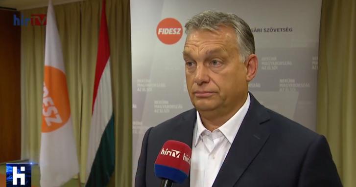 Orbán Viktor a HírTV interjújában.