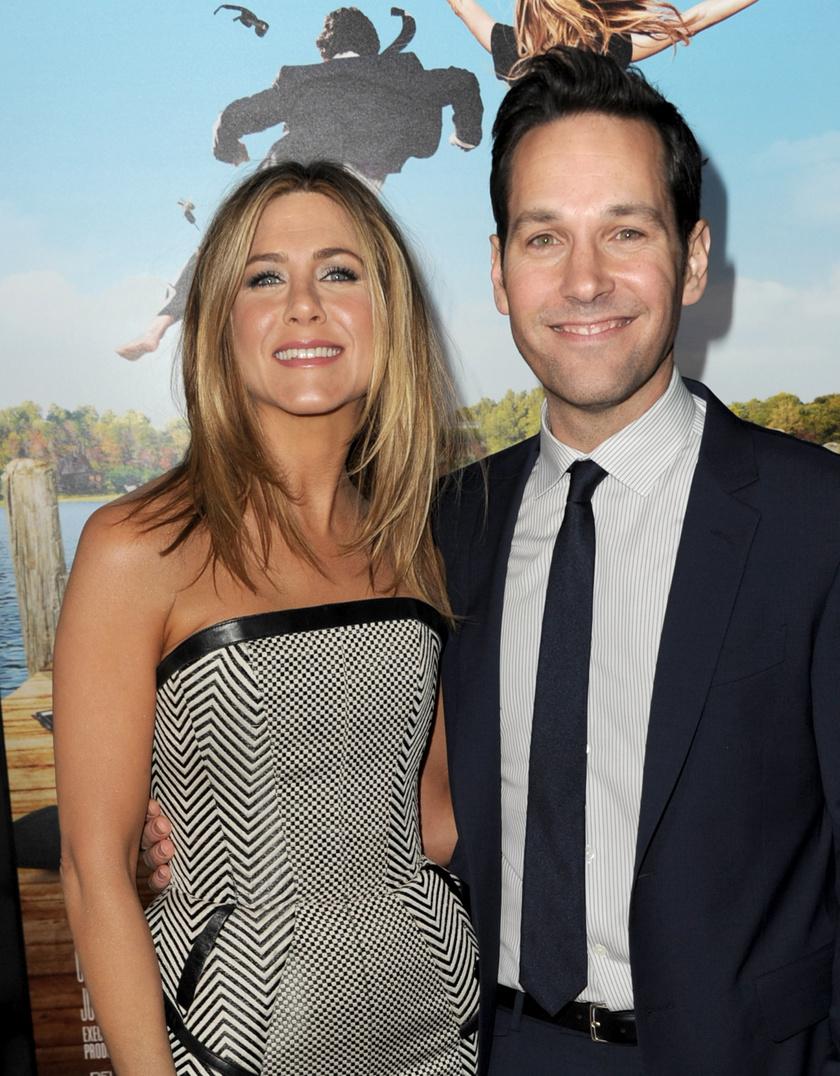 Jennifer Aniston és Paul Rudd a 2012-es Hippi-túra című filmjük premierjén.