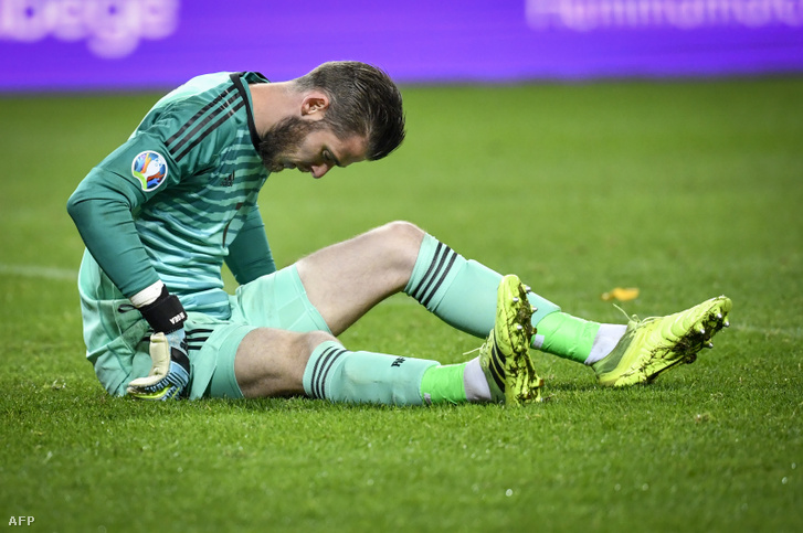 David de Gea sérülése a keddi Svéd - Spanyol mérkőzésen