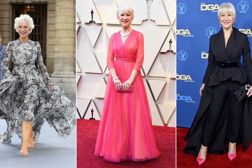Helen Mirren 74 évesen is igazi stílusikon: nőiesebb, mint sok huszonéves