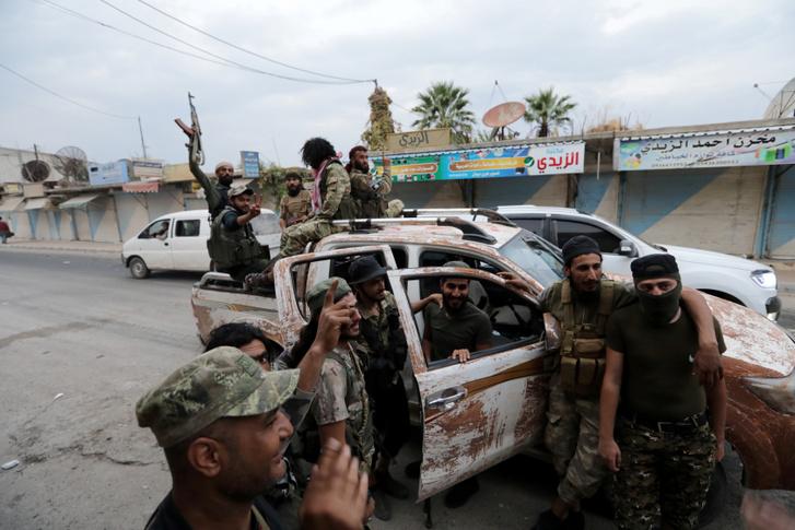 Harcok Tel Ábjad városában 2019. október 16-án.