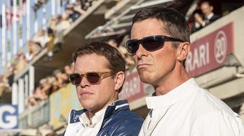Christian Bale és Matt Damon egy Forddal nyomulnak egy Ferrari ellen